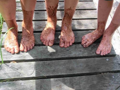 Die Füße nach dem Moorbad